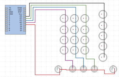 "Wiring Diagram - Vertical Wires - ""Lines"""